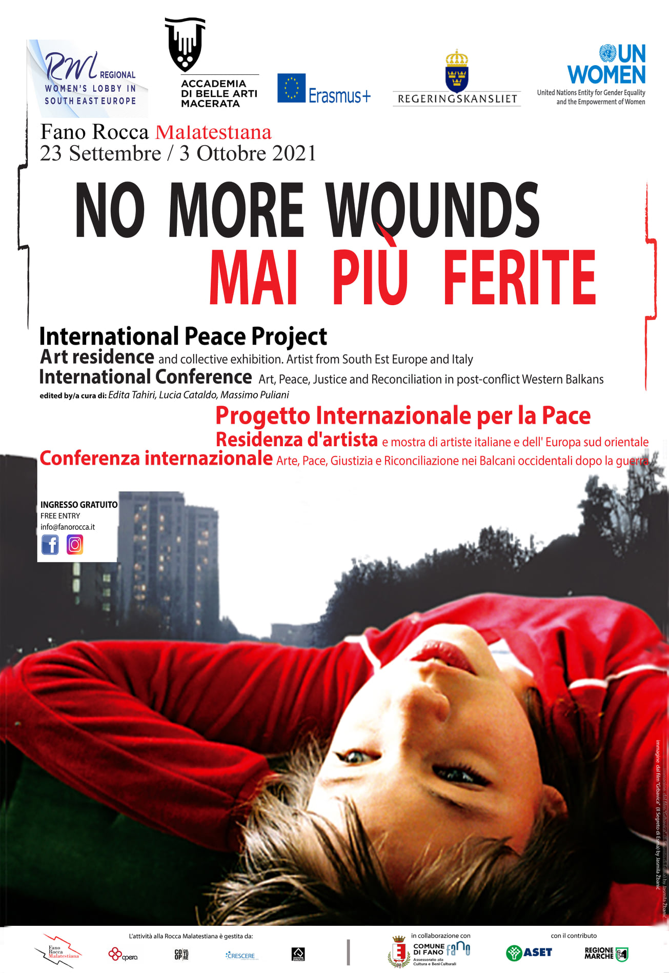 'NO MORE WOUNDS – MAI PIU FERITE – art for peace project successfully accomplished in Italy (press release)