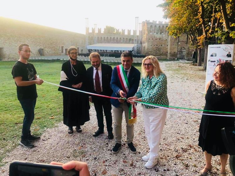 Exhibition 'NO MORE WOUNDS – MAI PIU FERITE' (in photos)-opened in Rocca Malatestiana Festival, Fano Italy, 28 September – 30 October 2021. By artists from 8 countries of Western Balkans and Italy. Organized by RWLSEE, Academy of Macerata, Erasmus+, Fano Rocca Malatestiana.